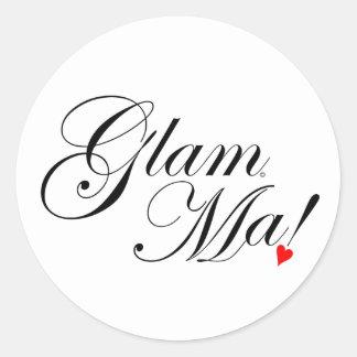 GlamMa Classic Round Sticker
