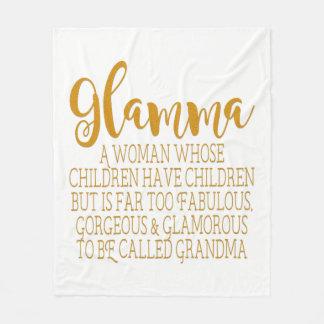 Glamma - Fabulous Grandma Fleece Blanket