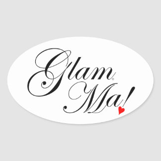 GlamMa Oval Sticker