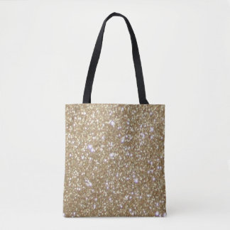 Glamor golden Glitz Bokeh lights gold glitter Tote Bag
