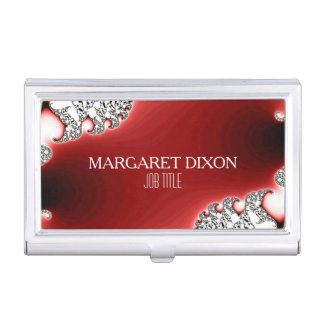 Glamor Sparkle Jewelry/Jewellery Personalized Business Card Holder