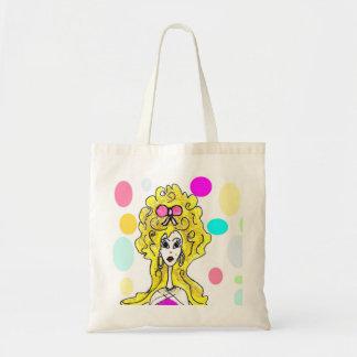 Glamorous Big Hair Lady Bag