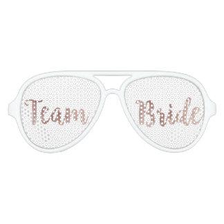 Glamorous Chic Rose Gold Team Bride Sunglasses