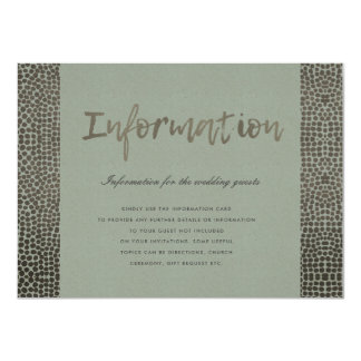 GLAMOROUS COPPER SILVER DOTS MOSAIC INFORMATION CARD