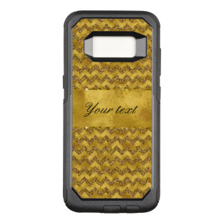 Glamorous Faux Gold Glitter Chevrons OtterBox Commuter Samsung Galaxy S8 Case
