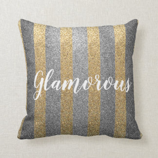 Glamorous Faux Gold/Silver Glitter Pillow