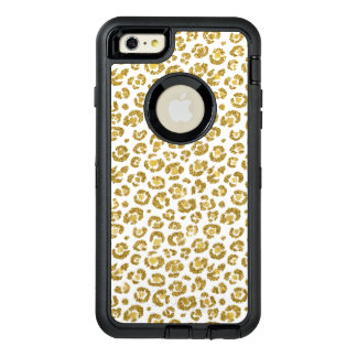 Glamorous Faux Sparkly Gold Leopard OtterBox Defender iPhone Case