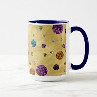 Glamorous Glitter Polka Dots Gold Mug