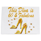 GLAMOROUS GOLD 60TH BIRTHDAY LARGE GIFT BAG