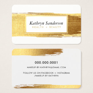 GLAMOROUS gold brush strokes luxe brows & lashes Business Card
