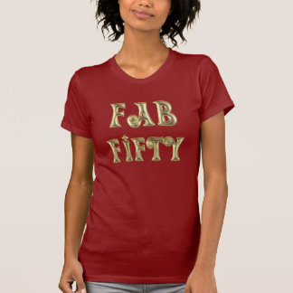 Glamorous Gold Fab Fifty T-Shirt