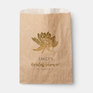 GLAMOROUS  GOLD  FLORAL BRIDAL SHOWER FAVOUR BAG