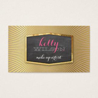 GLAMOROUS gold foil elegant eco natural kraft Business Card