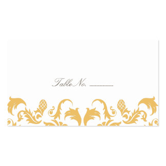 Glamorous Gold Guest Table Escort Cards Pack Of Standard Business Cards