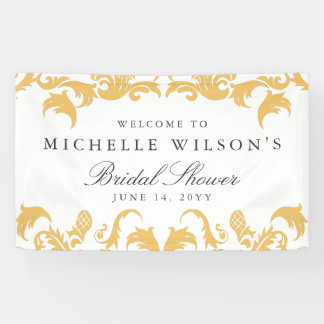 Glamorous Gold Wedding or Party Banner