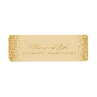 Glamorous Golden Glitz Glitter Address Labels