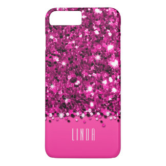 Glamorous Hot Pink Sparkly Glitter Confetti Case
