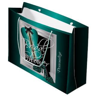 Glamorous Lingerie Bridal Shower | Teal Large Gift Bag