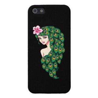 Glamorous Peacock Goddess Art iPhone 5/5s Case