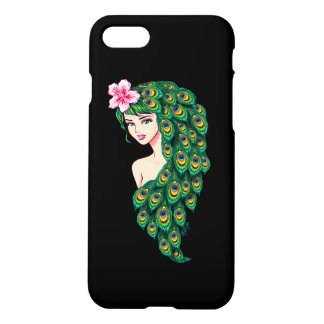 Glamorous Peacock Goddess Art iPhone 7 Case