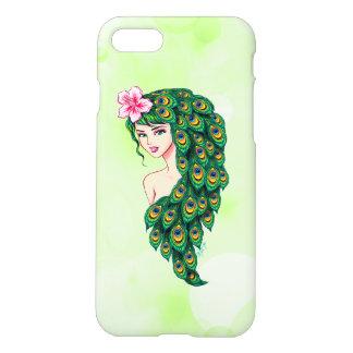 Glamorous Peacock Goddess Art iPhone 7 Slim Case