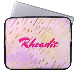 Glamorous Pink and Gold Laptop Sleeve