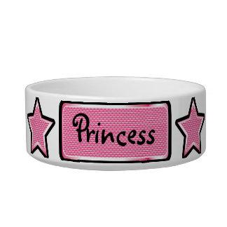 Glamorous Pink Bling Stars & Tag Pet Bowl