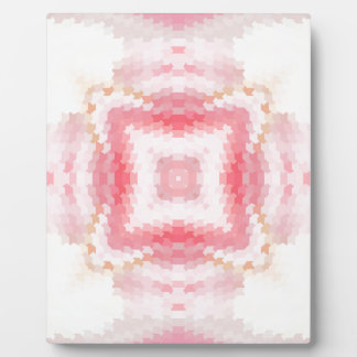 Glamorous pink geometric abstract ethnic ornament plaque