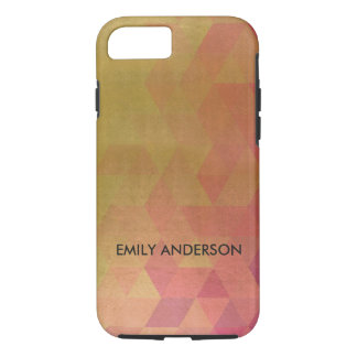 GLAMOROUS PINK GOLD FAUX TRIANGULAR PATTERN Case-Mate iPhone CASE