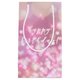 Glamorous Pink Sparkles Happy Birthday Gift Bag