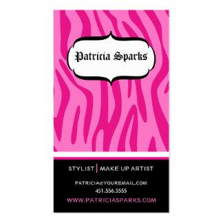 Glamorous Pink Zebra Business Card