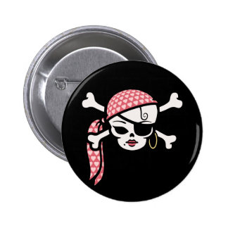 Glamorous Pirate 2 Inch Round Button