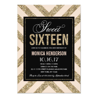Glamorous Shimmer | Sweet Sixteen Party Invitation