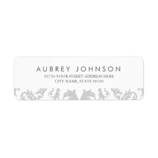 Glamorous Silver Address Labels