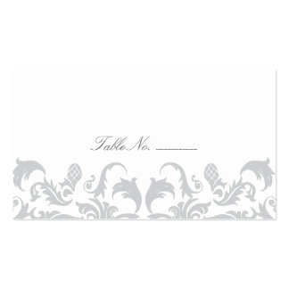 Glamorous Silver Guest Table Escort Cards Pack Of Standard Business Cards