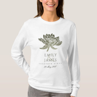 GLAMOROUS SKY BLUE SILVER LOTUS SAVE THE DATE GIFT T-Shirt