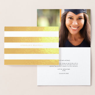 Glamorous Stripe Foil Note card