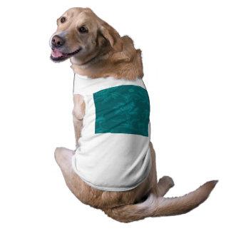 Glamorous Vintage Floral Elegant Teal Turquoise Dog Shirt