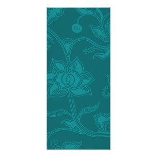 Glamorous Vintage Floral Elegant Teal Turquoise Personalized Rack Card