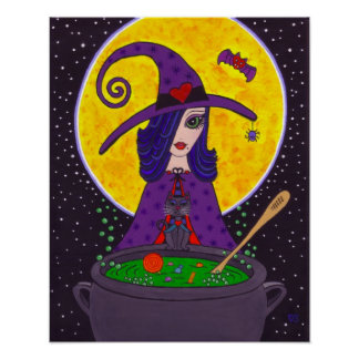 Glamorous Witch Halloween Poster