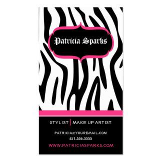 Glamorous Zebra Business Card