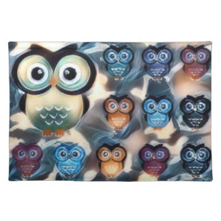 GlamorousClamp Owls Placemat