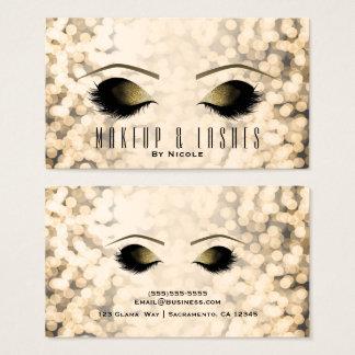 Glamour Bokeh Lights Makeup Eyelashes Beauty Spa Business Card