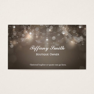 Glamour Boutique Glam Sparkle Chic Business Card