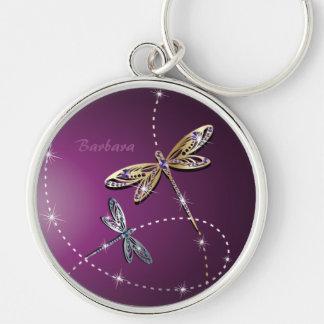 Glamour Diamond Butterfly Keychain