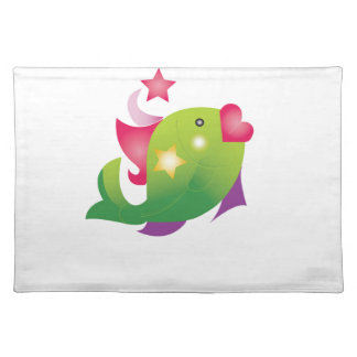 glamour fish placemat