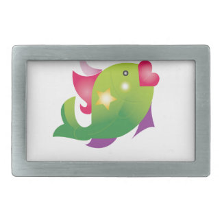 glamour fish rectangular belt buckle