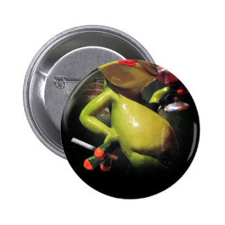 Glamour Frog Smoke 2 Inch Round Button