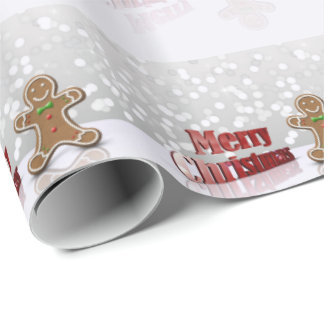 Glamour Gingerbread Christmas Man - Wrapping Paper