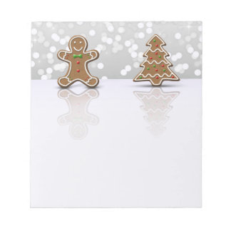 Glamour Gingerbread Man and Tree - Notepad